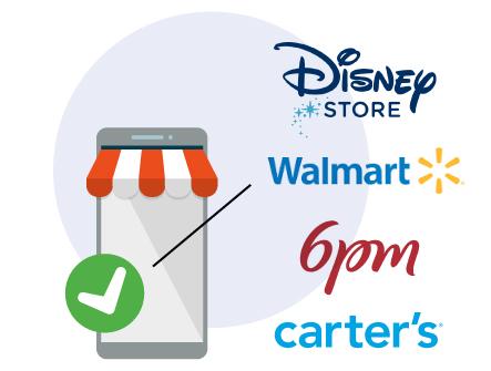 negozi americani online - Disney Store, Walmart, 6pm, carter's