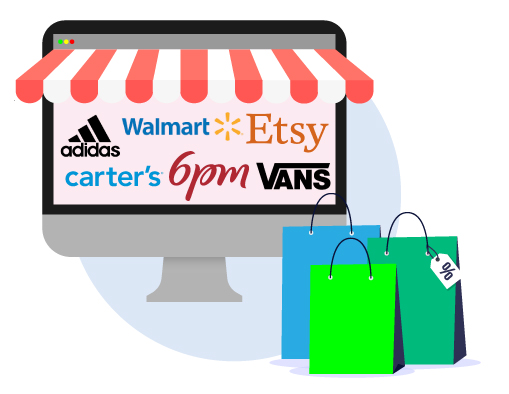 amerikanische online shops- adidas, walmart, etsy, carter's, 6pm, vans