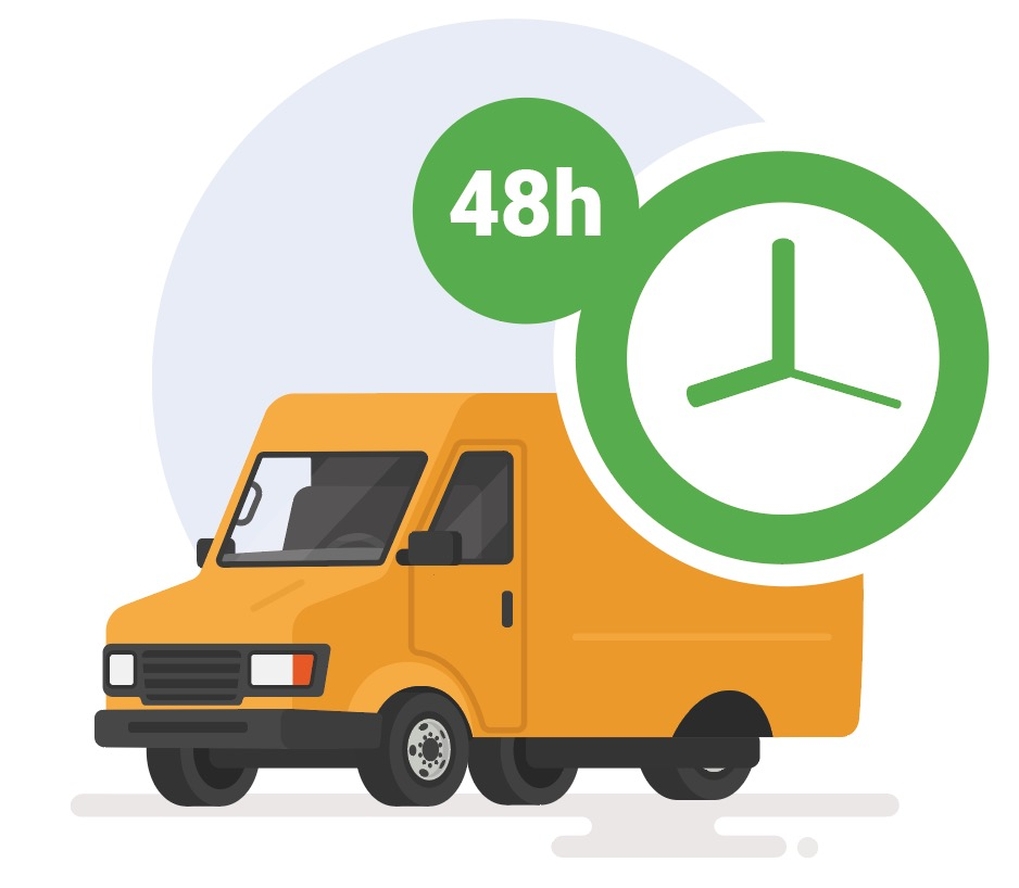 Furgone di consegna in 48 ore