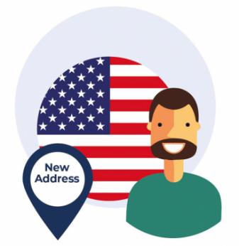 Indirizzo americano - bandiera USA